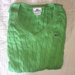 Green LACOSTE SWEATER WOMENS 36